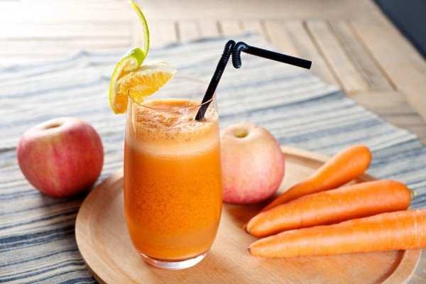 сок из моркови и яблок
