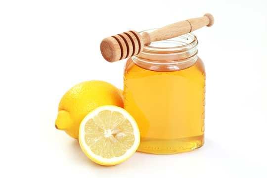мед и лимонный сок