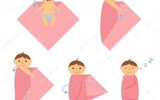 Как правильно пеленать новорожденного, техники и способы выполнения пошагово