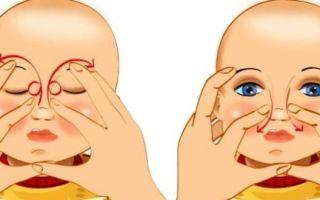 Показания к назначению массажа слезного канала у новорожденных и как правильно делать