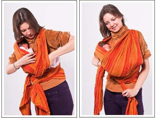 Как правильно завязать слинг шарф для новорожденных