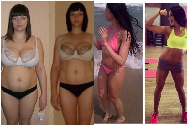 девушки до и после похудения