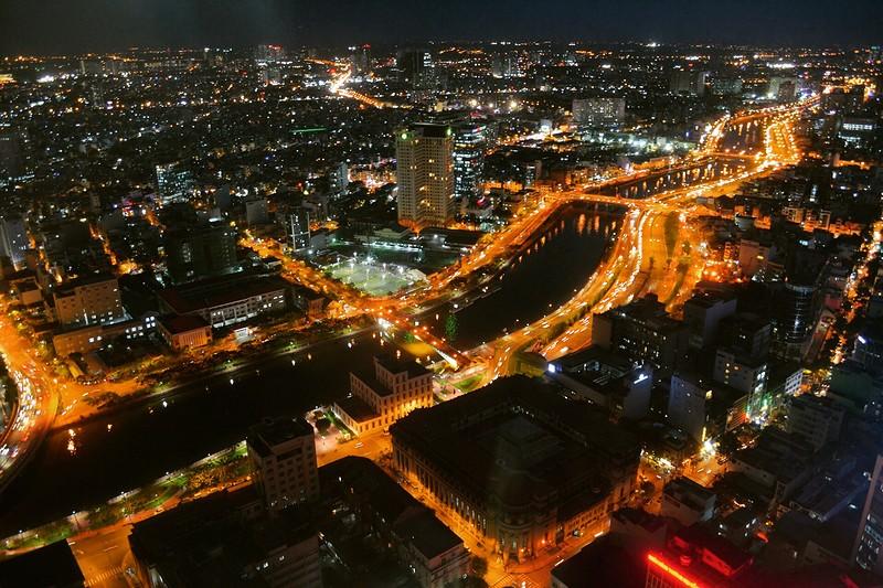Ночной Симферополь с высоты птичьего полета