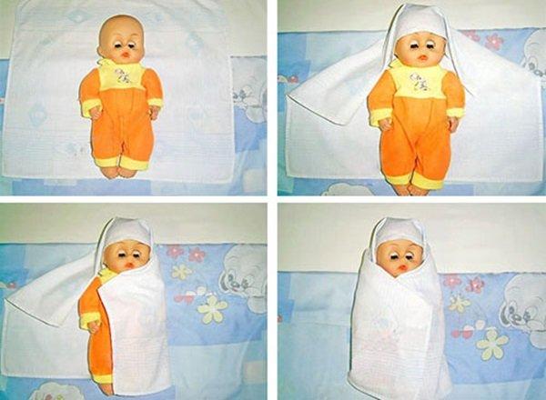 пеленание ребенка