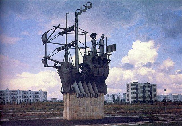 Скульптурные композиции «История транспорта»