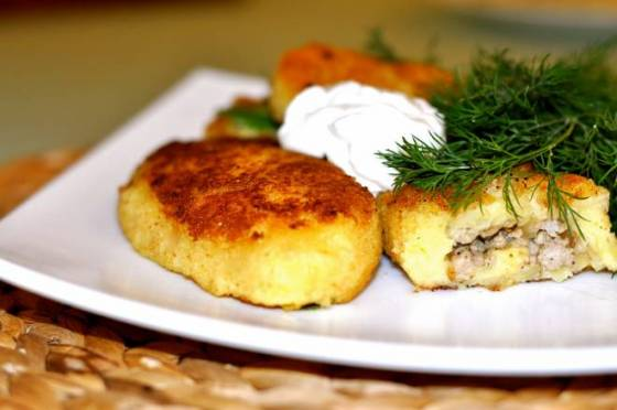 Картофельные зразы с говядиной