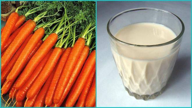 Морковь с молоком