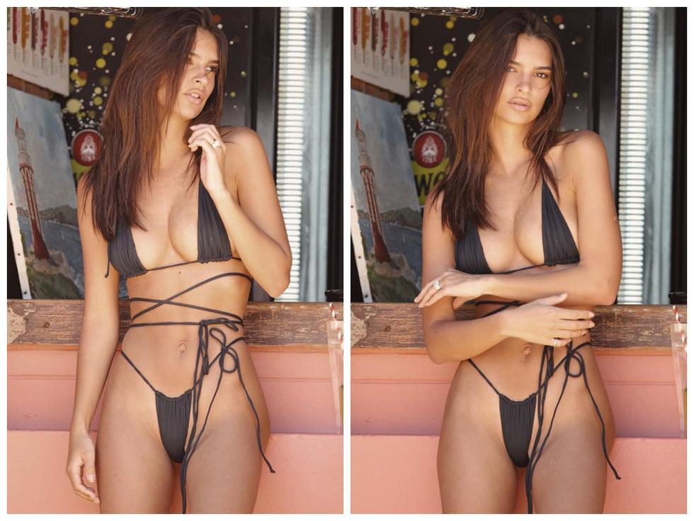 Эмили Ратаковски прорекламировала новое бикини, но фанатов заинтересовало, что под ним