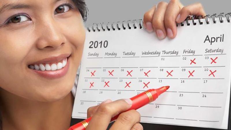 календарь в руках